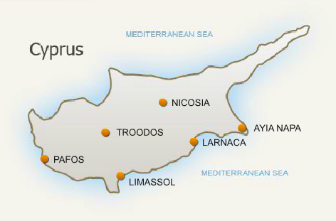 Accesible Tourism In Larnaca Cyprus Over Sun Aviation LTD - Cyprus map png